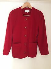 Red Jacket Taglia 10 Lana Cashmere by Gina