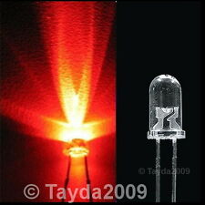 15 x LED 3mm Red Water Clear Ultra Bright - FREE SHIP