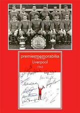 LIVERPOOL FC 1965 FA CUP FINAL WINNERS ROGER HUNT IAN ST JOHN SIGNED (PRINTED)
