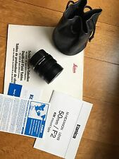 KONICA M-HEXANON LENS 50mm F2.0 KM mount type Leica M-mount *MINT*