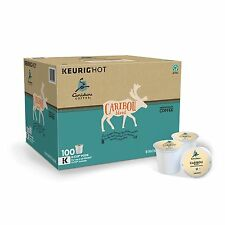 Caribou Blend Coffee 100 K cups Keurig Brewers Rainforest Alliance Certified