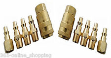 10PC BRASS QUICK RELEASE AIR LINE COUPLER CONNECTOR SET FOR COMPRESSOR TOOLS SET