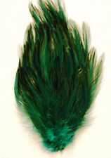 HACKLE FEATHER PAD - HUNTER GREEN New Pads; Headband/Hats/Bridal/Dress