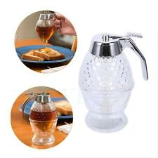 Honey Syrup Dispenser Glass Container Home Kitchen Storage With Stand Decorative
