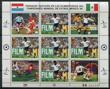 Paraguay 1985 Fußball WM Soccer FIFA World Cup 1986 Mexico 3843 Kleinbogen MNH