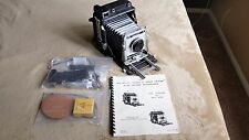 Late Model Graflex Crown Graphic with Optar 135 mm lens...Xtras...NO RESERVE!