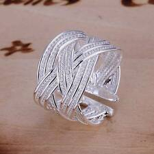wholesale 925 silver ring women fashion jewelry gift size 8