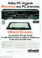 PUBLICITE ADVERTISING 096  1995  Olivetti   pc ordinateur Envision windows 95