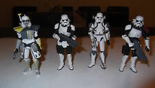 Star-Wars Very Rare The-Force-Unleashed-Sith-Imperial-Troopers x 4