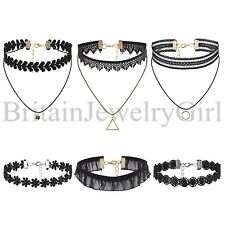 6PCS Choker Fashion Women Girls Gothic Punk Velvet Tattoo Lace Collar Necklace