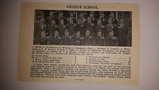 George School & Shady Side Academy Pittsburgh PA 1927 Football Team Picture