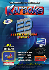 Chartbuster Essential 450 Vol. E9 - 450 MP3G SD Card Karaoke CDG Music 4 PLAYER