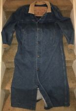 Vintage 1980s LEVIS Denim & Corduroy Cowboy Duster Jacket USA Men's Medium 75070