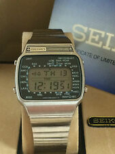 Seiko A358-5010 World Time  Quartz LCD LED Rare Collectible Watch