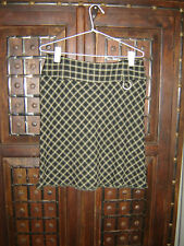 Review Size 8  short black & beige check skirt
