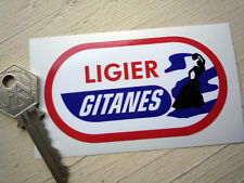 LIGIER GITANES oval shaped Coloured Classic Road F1 90mm Racing Car STICKER