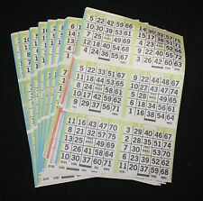 BINGO PAPER Cards Kit  6 on 5 up starburst Lime rotation 10 packs FREE SHIPPING