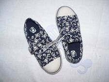 NEW Boys The Childrens Place Shoes Sneakers Size 10 Navy with White Skulls