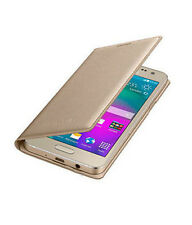 Premium Quality Leather Flip Cover For LYF Flame 7S (Gold)