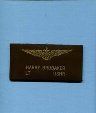 BRIDGES TOKO-RI MOVIE HARRY BRUBAKER F9F PANTHER NAME TAG US Navy Squadron Patch