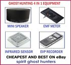 GHOST 4 PIECE - EMF EVP SPIRIT SPEAKER SENSOR - PARANORMAL HUNTING EQUIPMENT KIT