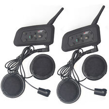 2x 1200m Interphone Moto Casco De Motocicleta Bluetooth Intercomunicador Nuevo