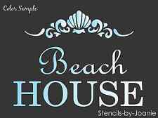 Beach House STENCIL Shell Scroll Border Lake Cottage Seaside Chic Signs U Paint