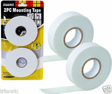 HEAVY DUTY 18MM x 5M STRONG DOUBLE SIDED STICKY FOAM MOUNTING TAPE WALL-MOUNT