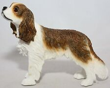 BROWN & WHITE CAVALIER KING CHARLES SPANIEL DOG LEONARDO COLLECTION ORNAMENT