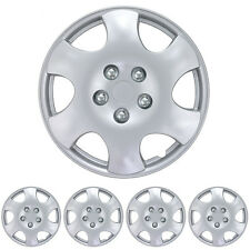 15 Inch Hubcap for Car SUV 4 Pieces Easy Installation New Design Silver Color