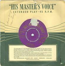 Ames Brothers EP WRONG AGAIN/ MERCI BEAUCOUP  His Master's Voice 7M322 45rpm