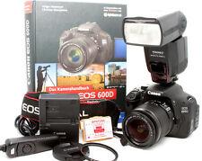Canon EOS 600D Digitalkamera / Schwarz mit EF-S 18-55  nur 6789 Auslösungen
