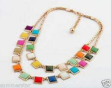 Muticolor Box Double Layer Necklace