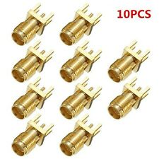 10pcs SMA femmina bordo saldare pcb mount connettore RF dritto