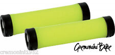 Manopole bici mountain bike mtb giallo fluo yellow gialle grips bicicletta
