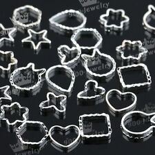 60x 3D Nail Art Stud Rhinestone Sticker Patch Hollow metal frame Decoration GIft