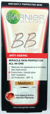 3 X Garnier BB Cream Anti Ageing Miracle Skin Perfector All in One 50ml Medium
