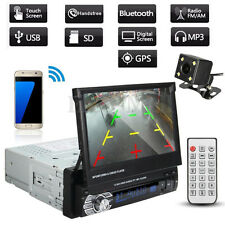 "1 Din Single 7"" HD Touch Screen Car DVD MP3 MP5 Bluetooth GPS Navigation+Camera"