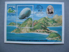 ST THOMAS AND PRINCE ISL, S/S 1979 MNH, UPU BRASILIANA 97, Zeppelin Roland Hill