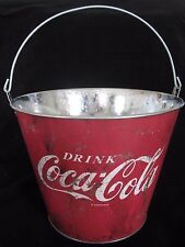COCA COLA COKE VINTAGE RETRO STYLE NOVELTY ICE BUCKET/TIN/GARDEN FLOWER POT -NEW