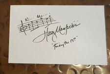 Harry Manfredini composer Friday 13th theme signed autographed 5 x 8 index card
