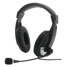 Computer Headphone Headset Microphone Mic 3.5mm Stereo 20-20000HZ for PC Laptops