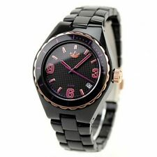 New Adidas Women Mini Cambridge Two Tone Acrylic Date Watch 35mm ADH2589 $95