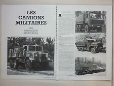6/82 ARTICLE 4 PAGES CAMION MILITAIRE AMERICAIN MACK OSHKOSH ENGESA AM GENERAL