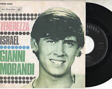 GIANNI MORANDI disco 45 giri TENEREZZA + ISRAEL Made in Italy