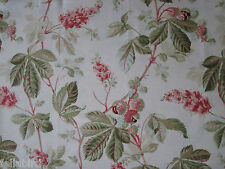 "SANDERSON CURTAIN FABRIC DESIGN ""Horse Chestnuts"" 3.6 METRES LINEN UNION"