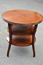 Baker Barbara Barry Mahogany Two Tier Round End Table