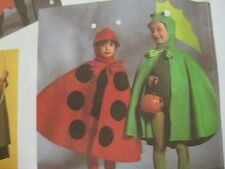 Vtg Simplicity 7470 LADY BUG FROG DRAGON HALLOWEEN COSTUME Sewing Pattern Child
