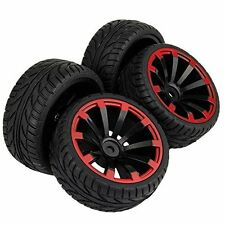 4pcs RC 1/10 Tires Tyre & Wheel Rims for HPI REDCAT HIMOTO 1/10 Scale Car