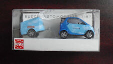 Busch HO 1/87 Smart Fortwo Car with Trailer Swisscom 48954 NIP